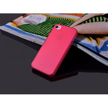 """Ультратонкий красный чехол """"0.2mm"""" для iPhone 4/4s"""