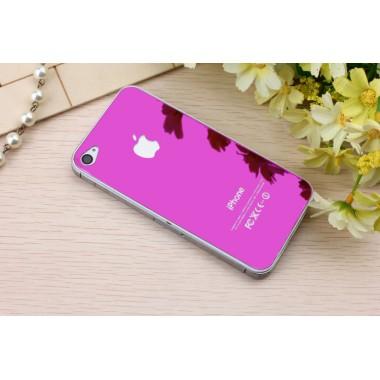 Заднее фиолетовое защитное стекло для iPhone 4/4s