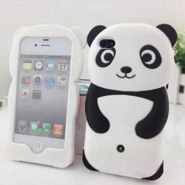 """Резиновый 3D чехол """"Панда"""" для iPhone 5/5S"""