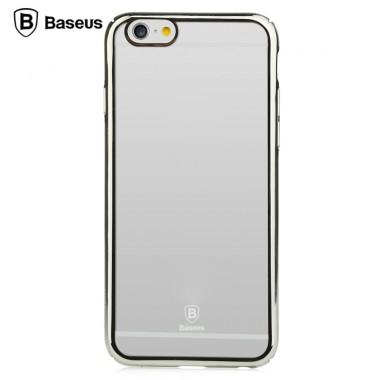 """Пластиковый чехол """"Baseus"""" с серебряным бампером для iPhone 6+/6s+"""