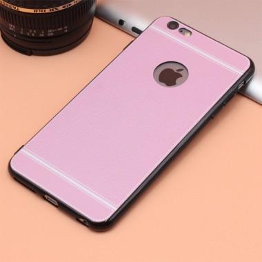 Силиконовый розовый чехол для iPhone 6+/6s+