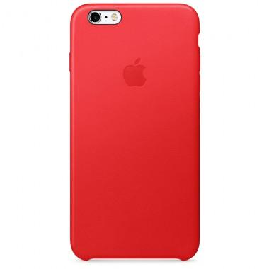 """Кожаный красный """"Apple leather case"""" для iPhone 6+/6s+"""