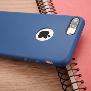 Ультратонкий синий силиконовый чехол для iPhone 6+/6s+