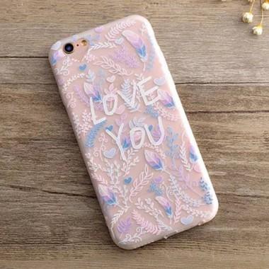 Силиконовый объемный чехол Love You для iPhone 6+/6s+