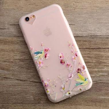 """Силиконовый объемный чехол """"Сад"""" для iPhone 6+/6s+"""