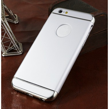Пластиковый серебряный разборной чехол для iPhone 6+/6s+