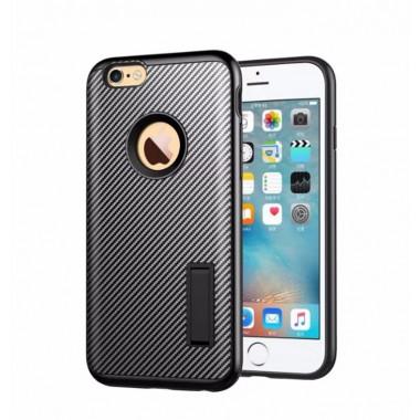 """Антиударный силиконовый чехол """"Carbon Hybrid"""" для iPhone 6+/6s+"""