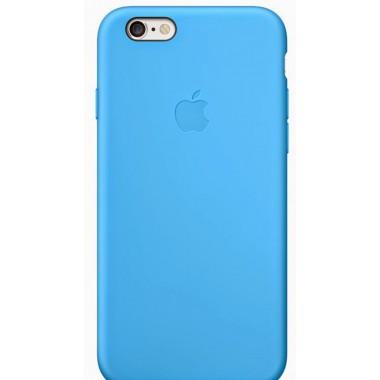 Силиконовый голубой чехол Apple case iPhone 6/6s