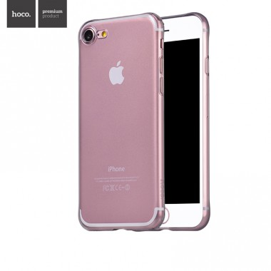 Силиконовый чехол Hoco Light Series TPU Transparent Black для iPhone 7