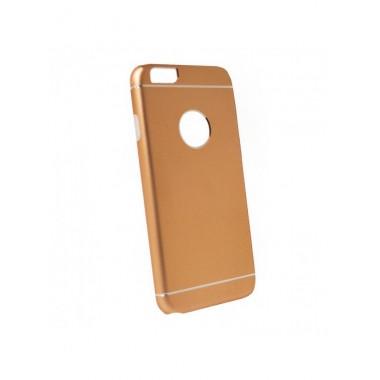 Алюминиевый золотой чехол с силиконовой накладкой для iPhone 6+/6S+