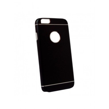 Алюминиевый черный чехол с силиконовой накладкой для iPhone 6/6S