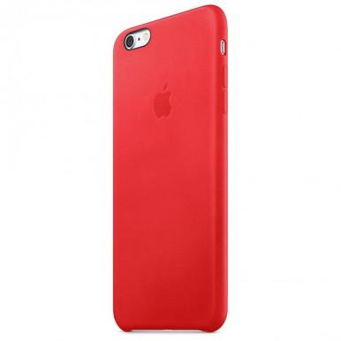 """Кожаный красный """"Apple leather case"""" для iPhone 7"""