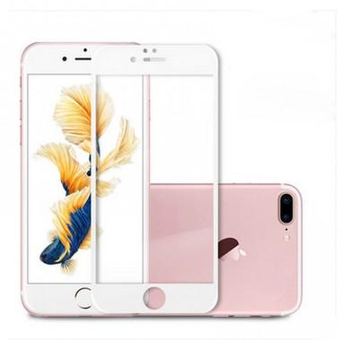 Белое защитное стекло на экран для iPhone 7 Plus