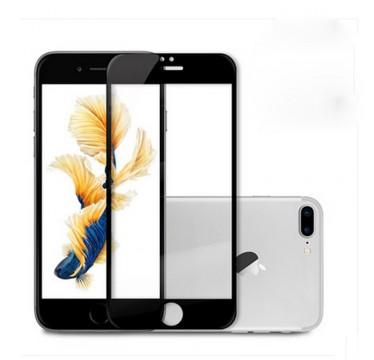 Черное защитное стекло на экран для iPhone 7