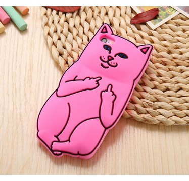 """Силиконовый ярко-розовый 3D чехол """"RIPNDIP"""" для iPhone 5/5s/5c/SE"""