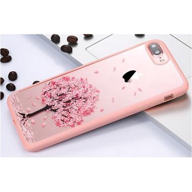 """Пластиковый чехол с силиконовыми краями """"Сакура"""" для iPhone 5C"""