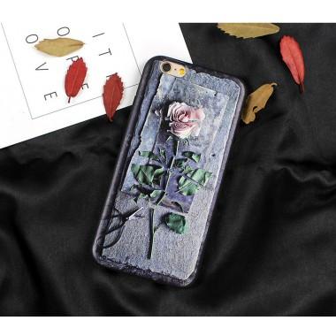 Силиконовый чехол Роза для iPhone 6/6s