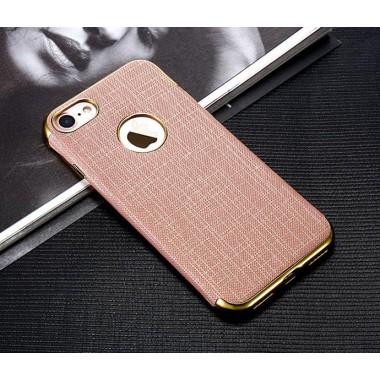 Силиконово-тканевый розовый чехол для iPhone 7 и 8