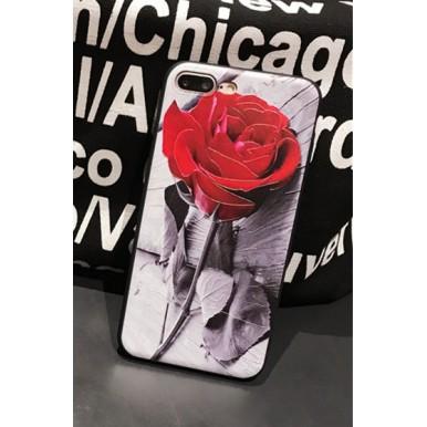 Силиконовый чехол Красная Роза для iPhone 7 Plus и 7 Plus