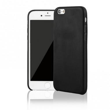 Кожаный черный чехол Vitnage для iPhone 6/6S