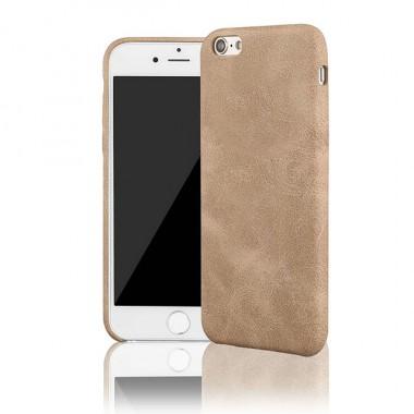 Кожаный золотой чехол Vitnage для iPhone 6/6S