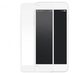 Переднее белое защитное 3D стекло с силиконовыми краями для iPhone 7