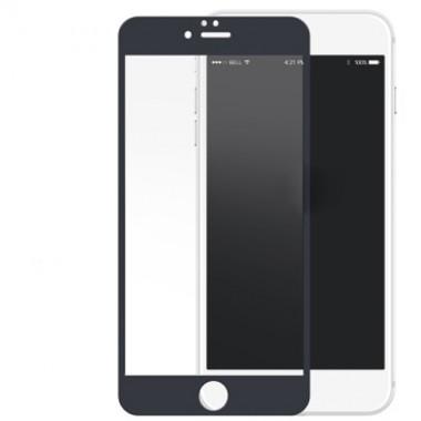 Переднее черное защитное 3D стекло с силиконовыми краями для iPhone 6/6s