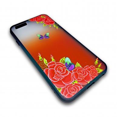 Пластиковый чехол с силиконовым бампером Remax butterfly для iPhone 7 Plus