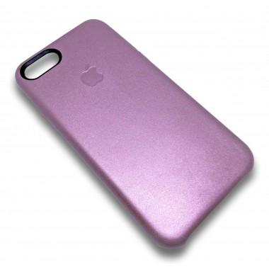 """Кожаный розовый """"Apple leather case"""" для iPhone 7"""
