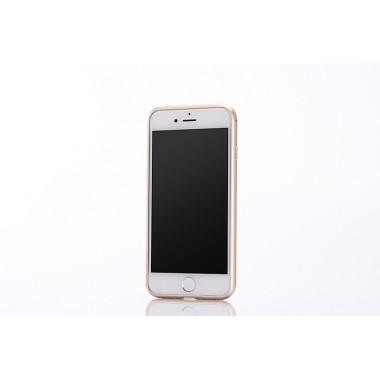 Металлический золотой бампер для iPhone 7