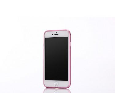 Металлический розовый бампер для iPhone 7 Plus