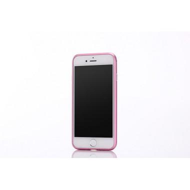 Металлический розовый бампер для iPhone 7