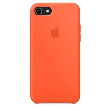 Orange Apple silicone case для iPhone 7/8