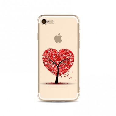Силиконовый чехол Красное дерево iPhone 7 Plus