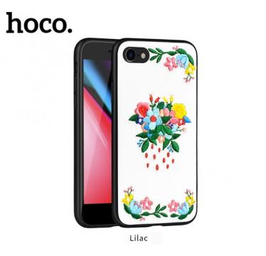 Чехол вышиванка Hoco summer flowers liliac для iPhone 7 и 8 Plus