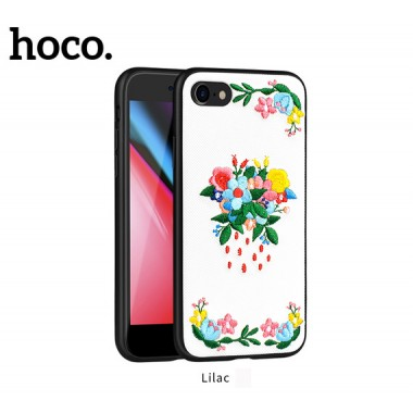 Чехол вышиванка Hoco summer flowers liliac для iPhone 7 и 8