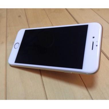 Переднее белое защитное 4D стекло для iPhone 6+/6S+