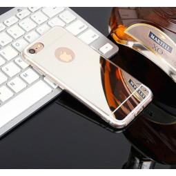 Серебряный зеркальный силиконовый чехол для iPhone 7