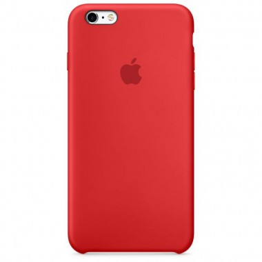 Red Apple silicone case для iPhone 6/6s