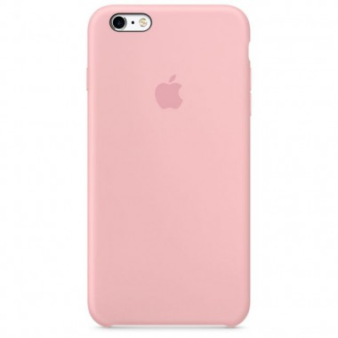 Pink Apple silicone case для iPhone 6plus / 6s plus