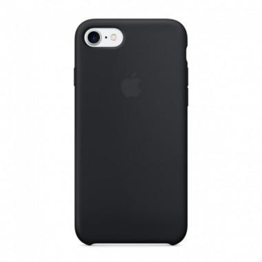 Black Apple silicone case для iPhone 7/8