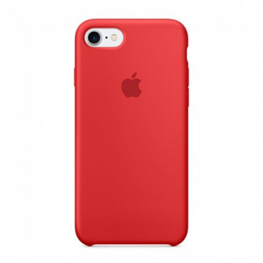 Red Apple silicone case для iPhone 7/8