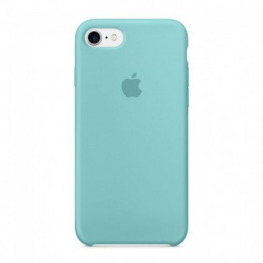 Sea Blue Apple silicone case для iPhone 7/8