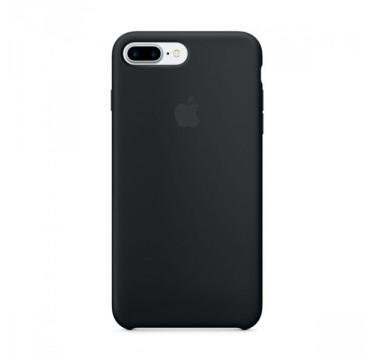 Black Apple silicone case для iPhone 7plus/8plus