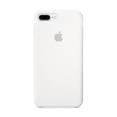 White Apple silicone case для iPhone 7plus/8plus
