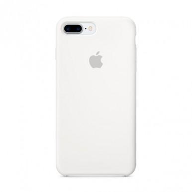 White Apple silicone case для iPhone 7plus/8plus