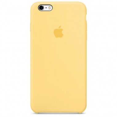 Yellow Apple silicone case для iPhone 6/6s