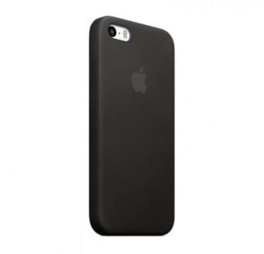 Black Apple silicone case для iPhone 5/5s/5se