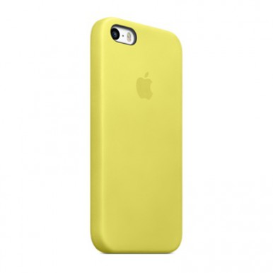Yellow Apple silicone case для iPhone 5/5s/5se