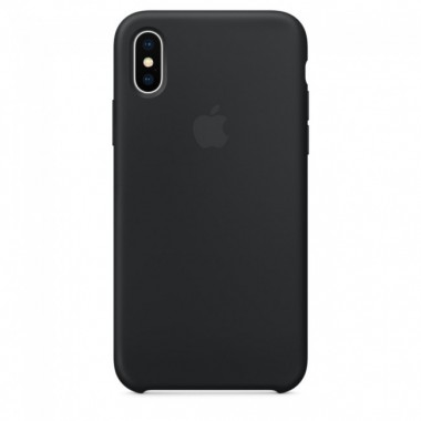 Black Apple silicone case для iPhone X и Xs Max
